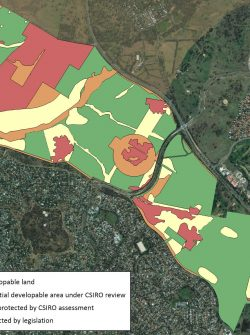 Map of Ginninderra site.
